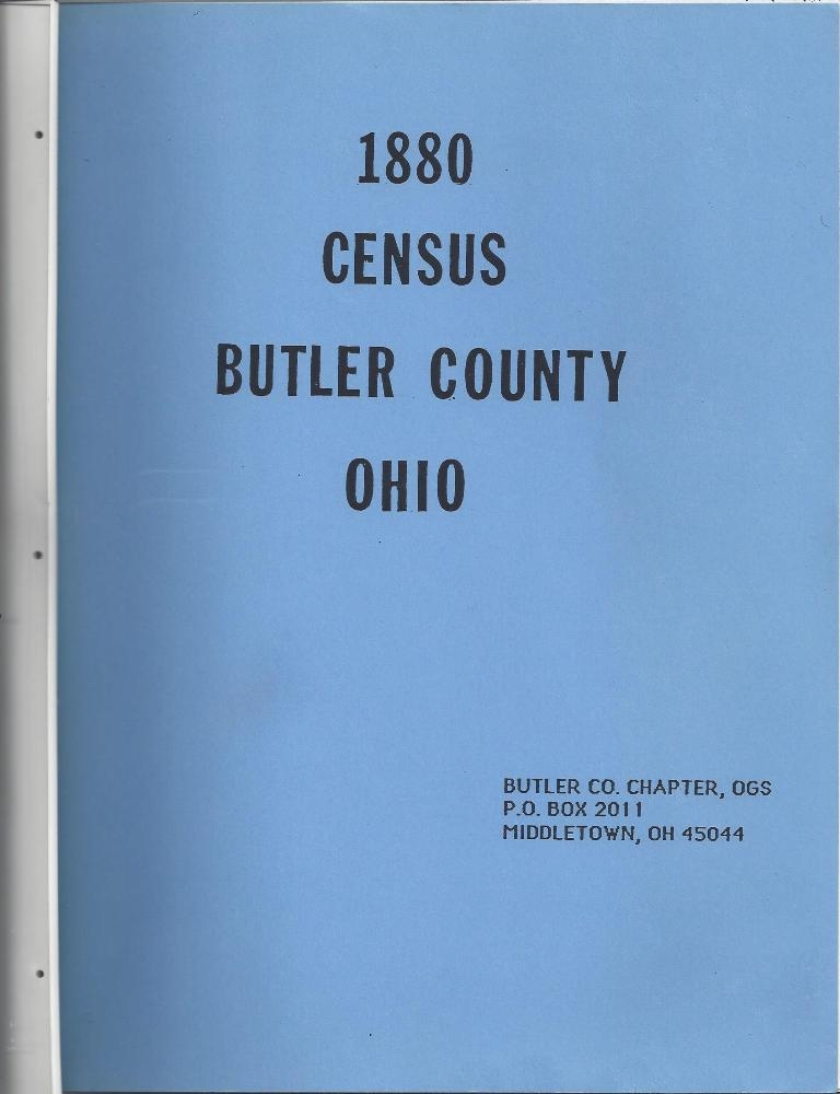 Image for 1880 Census Of Butler County, Ohio Roll 996 Volume 6