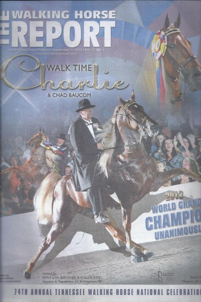 Image for The Walking Horse Report - Volume 42, Number 1, September 17, 2012